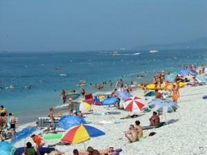 Галечный пляж в Туапсе