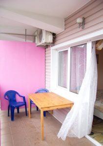 Автобусом к морю из Тулы в Лермонтово гостевой дом ЭДЕМ балкон