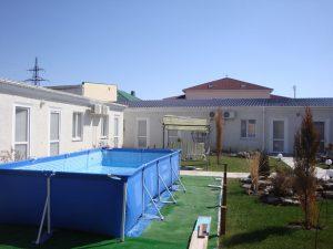 бассейн Гостевой дом «РИФ» Заозёрное Евпатория Крым Автобусом к морю