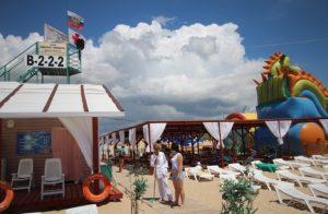 Автобусные туры к морю из Тулы в Витязево отель РАДУГА пляж